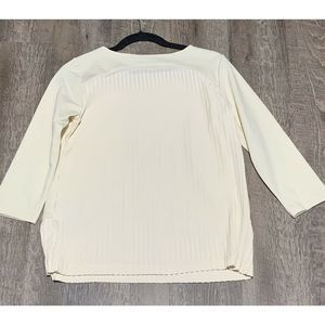 Lands' End Tops - Lands' End Size XS 2-4 Womens Cream Pleated Top